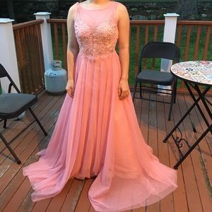 Way In Clothing Co. Pink Jeweled Ballgown